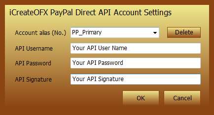 PayPal Direct OFX and QIF Converter